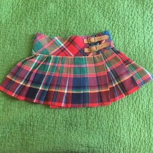 Ralph Lauren plaid pleated schoolgirl skirt cute